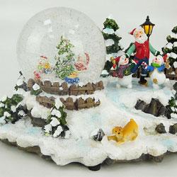 CHRISTMAS CONCEPTS 15.5cm Musical de Navidad Decoración Resina Con la Navidad