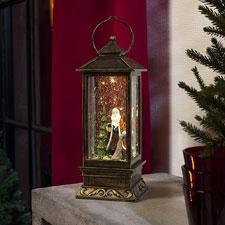 Konstsmide 2888-000 LED linterna nieve Papá Noel, relleno de agua