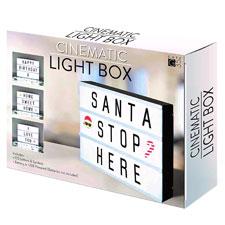 A4 cinematográfica caja de luz señal con letras y Emojis para fiestas