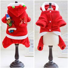 Smoro Mascota Perro Gato Ropa de Navidad Traje de Santa Claus