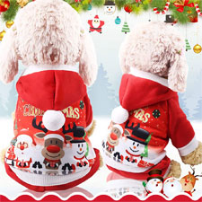 Mallalah Perro de la Navidad Viste la Capa del Perro del Traje de Papá Noel
