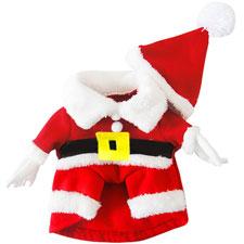 BEETEST Navidad Navidad mascota perro Santa Claus traje ropa abrigo sombrero
