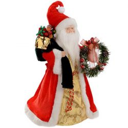 WeRChristmas - Figura de Papá Noel (40 cm), color rojo y dorado
