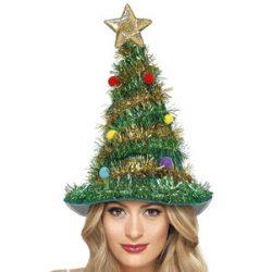 Smiffys Gorro de árbol de Navidad, Verde