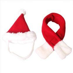 MagiDeal Sombrero de Santa Claus para Perro Gato Accesorios de Navidad Animal Doméstico Lindo