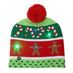 Ahomi - Gorro de Navidad con luz LED, diseño de árbol de Navidad