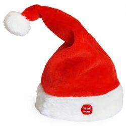 [lux.pro] Gorro de Papá Noel que canta y baila