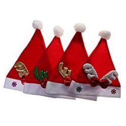 Gorros de Santa Claus Navidad Para Niña Niños De Accesorios De Vacaciones Dressup Fiesta