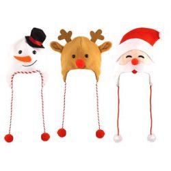 3 Surtidos Navidad Adultos Sombreros One Pack de Cada Suministro