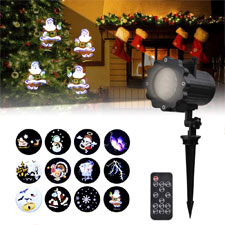 Holiday Projector, Viugreum Dynamic LED Christmas Projector Lights, 12 diapositivas