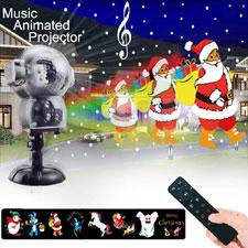 Luz de nevadas Navidad, proyector luces navidad impermeable con mando a distancia temporizador