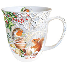 Ambiente taza de té / taza de café sobre 0,4 L Winter Picture