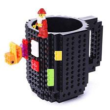VANUODA Build-on Brick Mug, Tazas Desayuno, Regalo Originales de Navidad