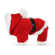 PETCUTE Trajes de Navidad Para Mascotas Traje Para Perros Con Capuchón Camisetas de Santa Claus