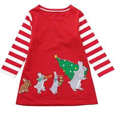 Vestido Navidad Niña Falda Tul niña POLP Camiseta Casual Moda