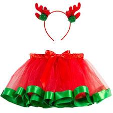 Disfraz Navidad Bebe Niña Fotografía Tutú Falda Corta