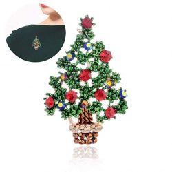 Broche árbol de Navidad brillantes