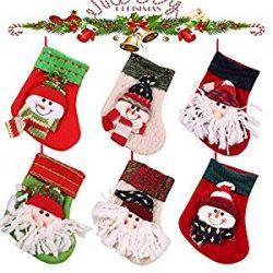 Juego de 6 calcetines de Navidad para chimenea