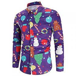 Camisa con estampados de Navidad. Fucsia
