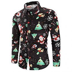 Camisa negra de Santa Claus