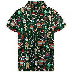 Camisa verde con motivos navideños