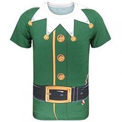 Camiseta de Elfo de Santa Claus. Hombre