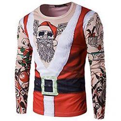 Camiseta de Santa Claus con tatuajes