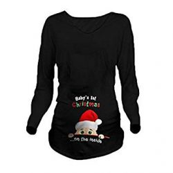 Camiseta de Santa Claus para mujer embarazada