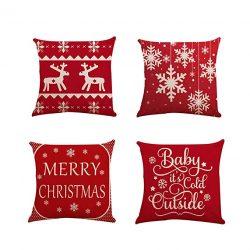 Fundas rojas cojines Navidad