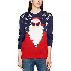 Jersey de punto. Santa Claus con gafas de sol