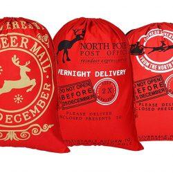 Sacos rojos Reindeer Mail