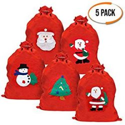 Pack de 5 Sacos de Santa Claus