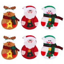 Portacubiertos y posavasos de Santa Claus