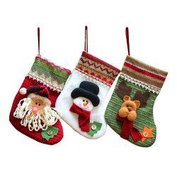 Calcetines adorno de Santa Claus