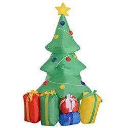 Hinchable de árbol de Navidad con regalos