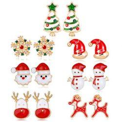 Pendientes variados de Navidad