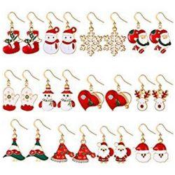 Pendientes variados de Santa Claus