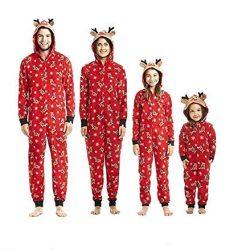 Pijama con cuernos de reno familia