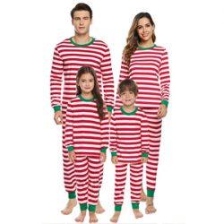 Pijama de rayas familia Santa Claus