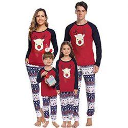 Pijamas reno de Santa Claus para la familia
