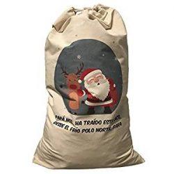Saco impreso de Santa Claus
