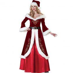 Traje-Vestido de Mamá Claus
